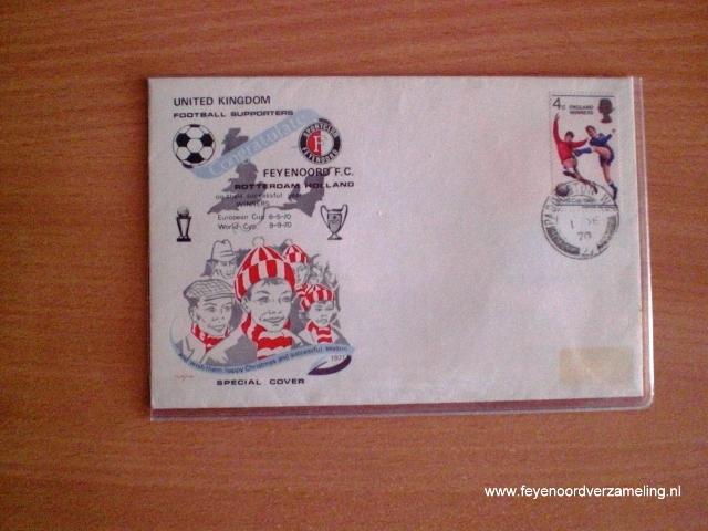Eerstedagenvelop Feyenoord - Celtic 1970